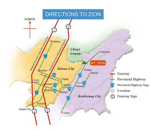 Route to Zion