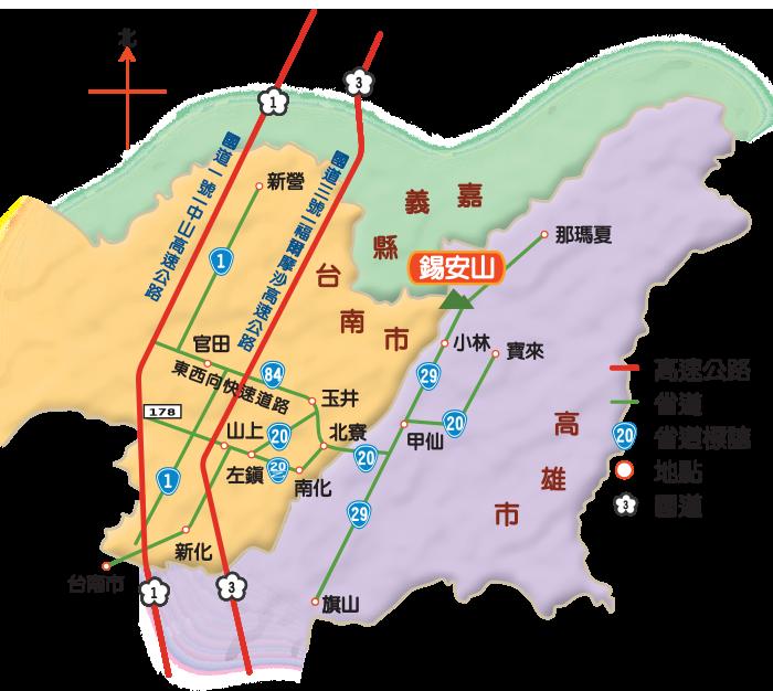 上山路線地圖